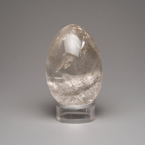 Polished Clear Quartz Egg from Brazil (101.4 grams)