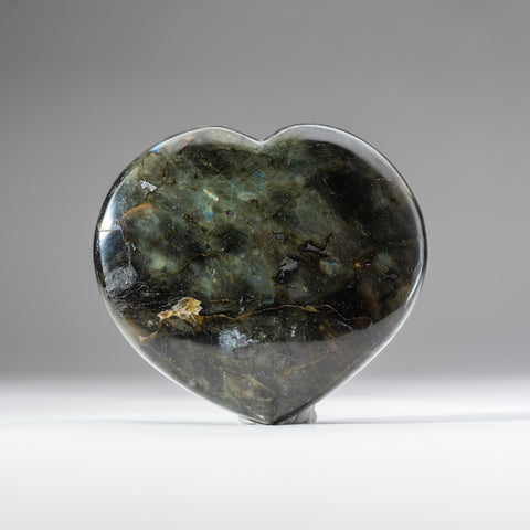 Polished Labradorite Heart (1.4 lbs)