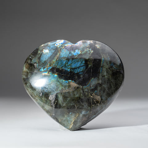 Polished Labradorite Heart (2.4 lbs)