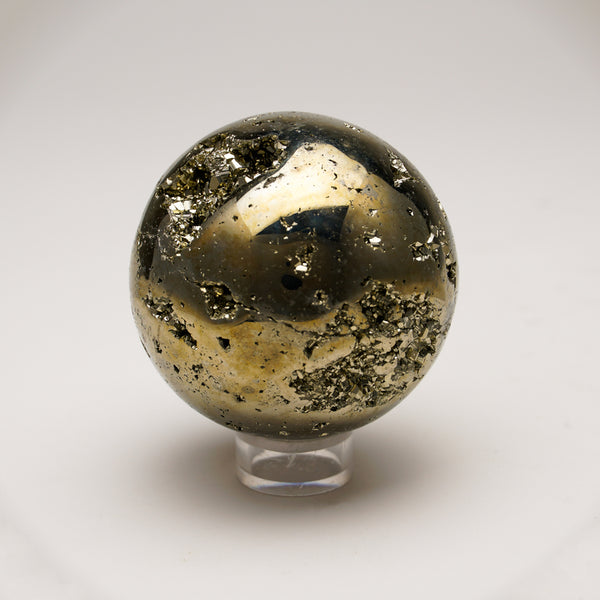 "Polished Pyrite Sphere from Peru (2.6"", 732.2 grams)"