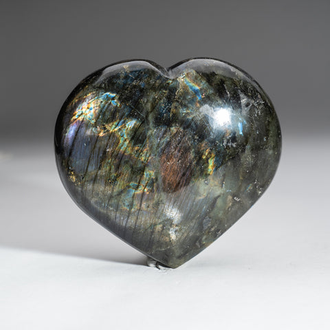 Polished Labradorite Heart (2.6 lbs)