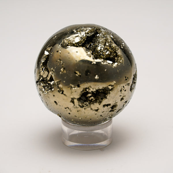 "Polished Pyrite Sphere from Peru (1.9"", 258 grams)"