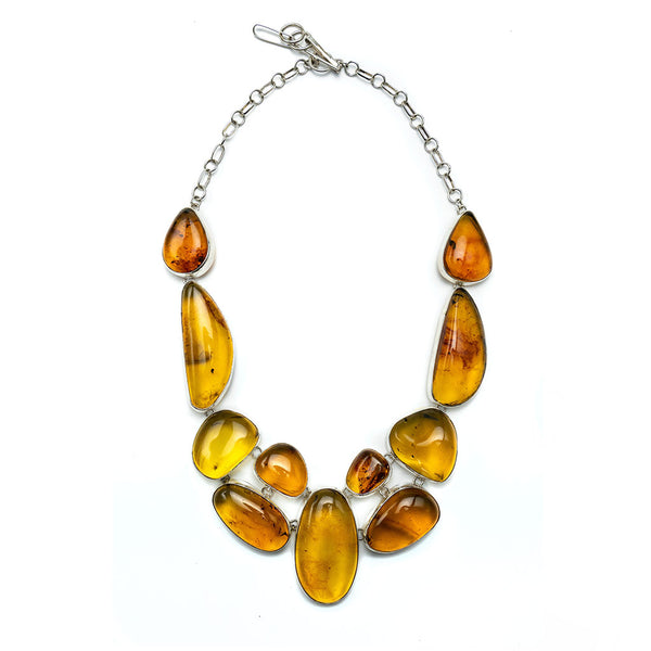 Baltic Amber Sterling Silver Necklace