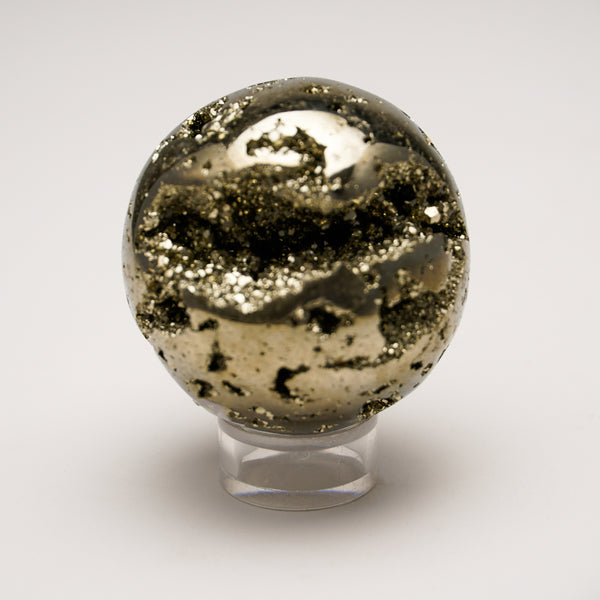 "Polished Pyrite Sphere from Peru (2.1"", 294.6 grams)"