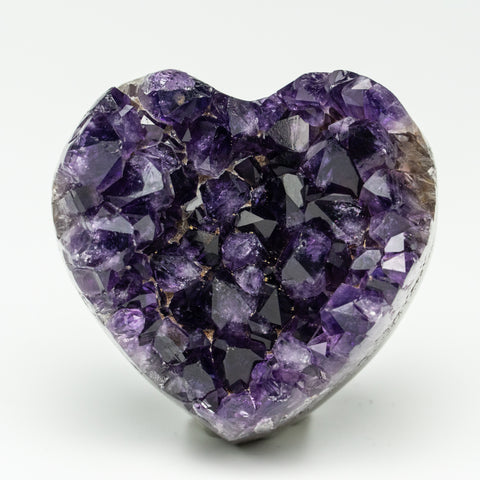 Amethyst Cluster Heart from Uruguay (140 grams)