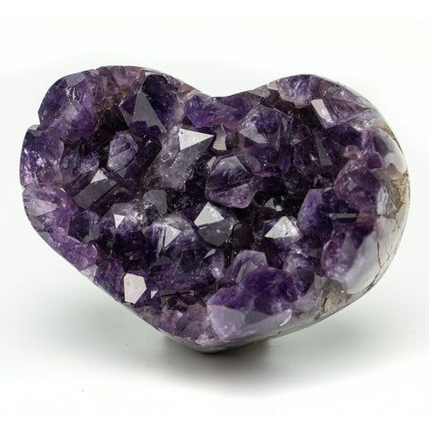 Amethyst Cluster Heart from Uruguay (160 grams)