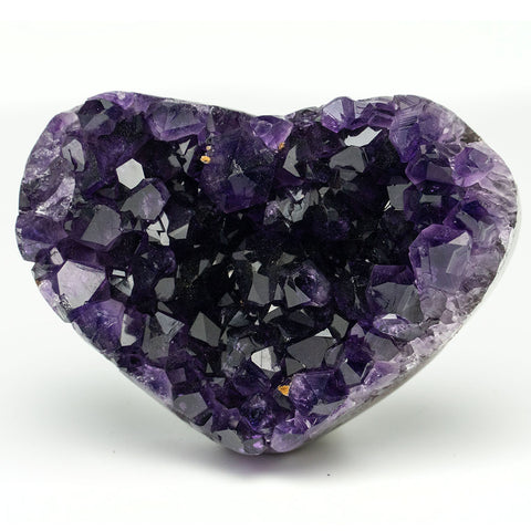 Amethyst Cluster Heart from Uruguay (175 grams)