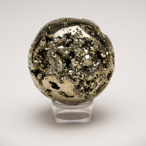 "Polished Pyrite Sphere from Peru (1.9"", 241.5 grams)"