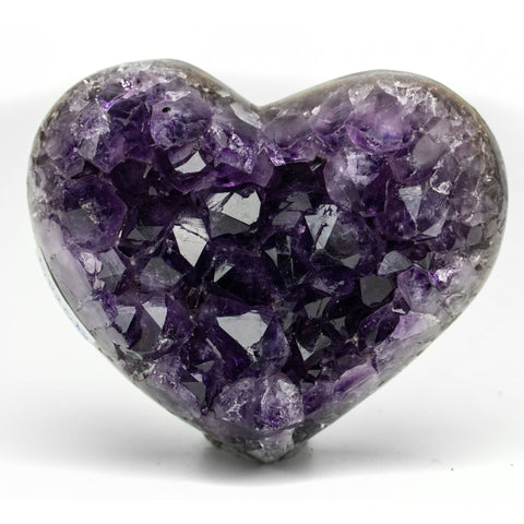 Amethyst Cluster Heart from Uruguay (225 grams)