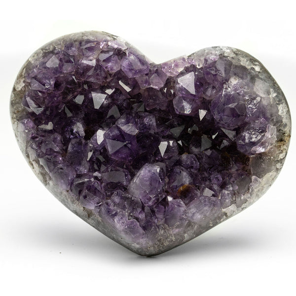 Amethyst Cluster Heart from Uruguay (290 grams)