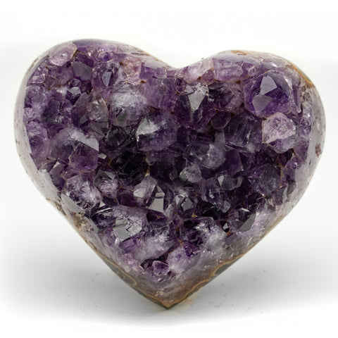 Amethyst Cluster Heart from Uruguay (465 grams)