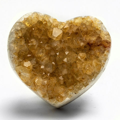 Citrine Cluster Heart from Uruguay (320 grams)
