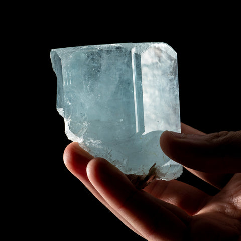 Aquamarine Gem Crystal from Nagar, Gilgit District, Gilgit-Baltistan, Pakistan (378.6 grams)