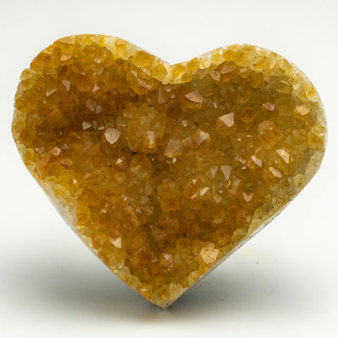 Citrine Cluster Heart from Uruguay (170 grams)