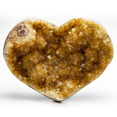 Citrine Cluster Heart from Uruguay (395 grams)