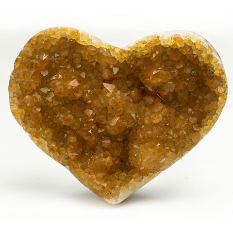 Citrine Cluster Heart from Uruguay (345 grams)