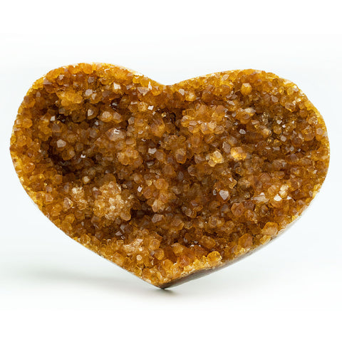 Citrine Cluster Heart from Uruguay (275 grams)