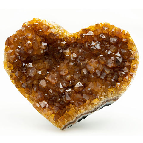 Citrine Cluster Heart from Uruguay (475 grams)