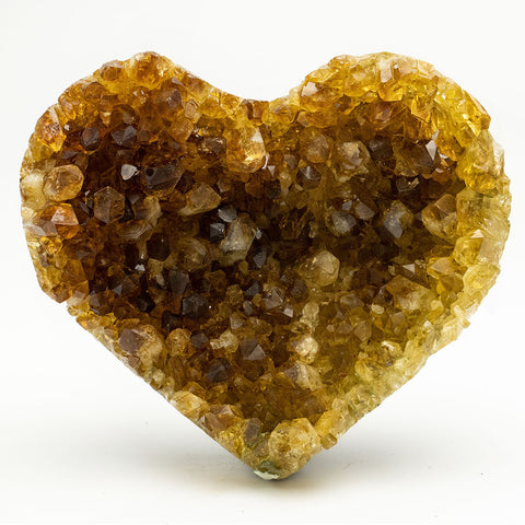 Citrine Cluster Heart from Uruguay (665 grams)