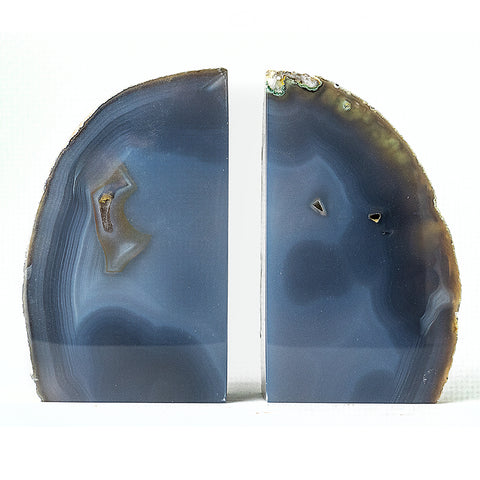 Blue Banded Agate Bookends (4 lbs) from Brazil