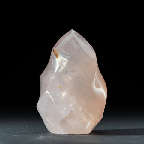 Polished Rose Quartz Flame Freeform From Madagascar (2.2 lbs)