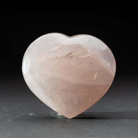 Polished Rose Quartz Heart from Brazil (2.6 lbs)