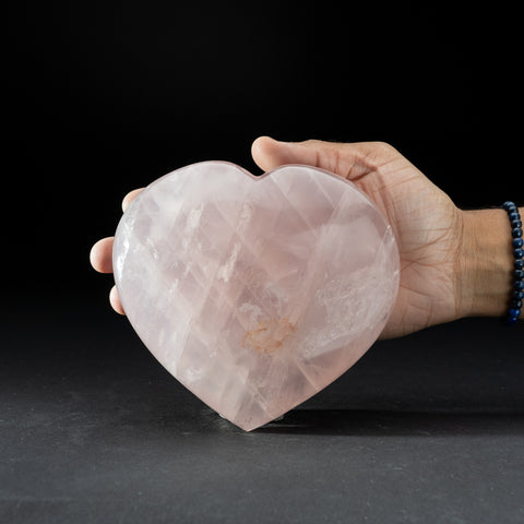 Polished Rose Quartz Heart from Brazil (2.8 lbs)