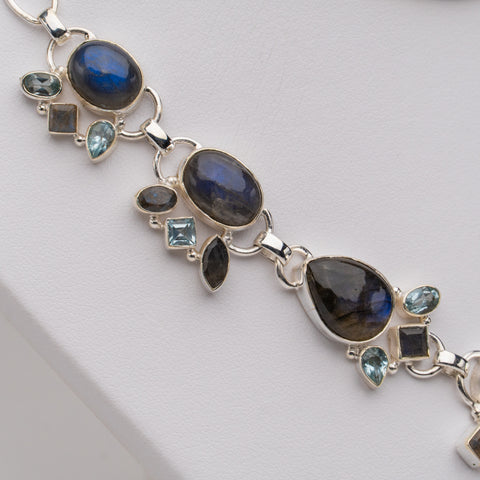 925 Sterling Silver Labradorite Necklace