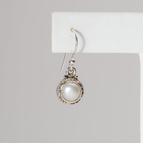 Mother of Pearl in Sterling Silver Earrings