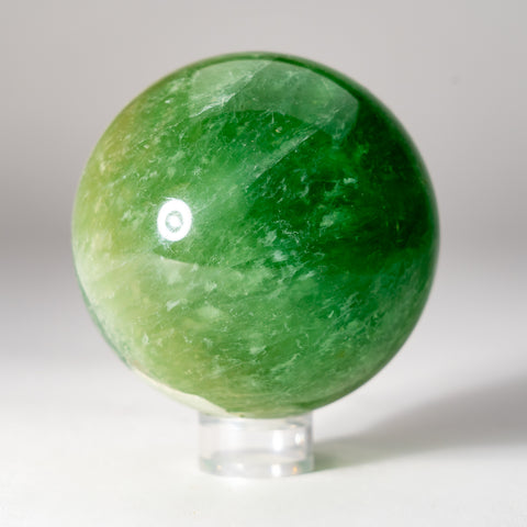 Polished Green Fluorite Sphere from Argentina (2 lbs)