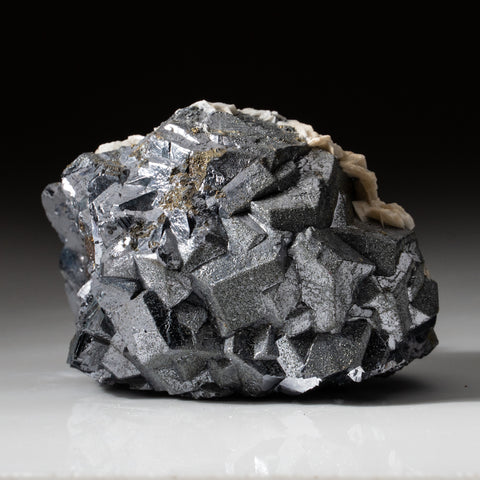 Galena with Barite and Pyrite from Huanzala Mine, Huallanca District, Huanuco Department, Peru