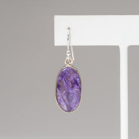 Charoite Sterling Silver Earrings