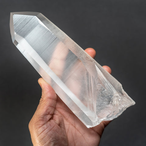 Natural Lemurian Quartz Crystal from Brazil (2.4 lbs)
