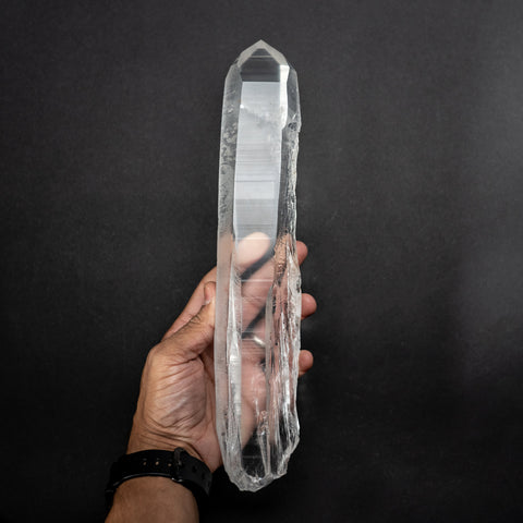 Natural Lemurian Quartz Crystal from Brazil (3 lbs)