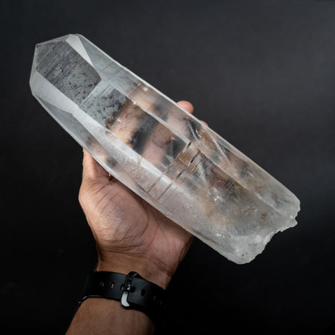 Natural Lemurian Quartz Crystal from Brazil (5.2 lbs)