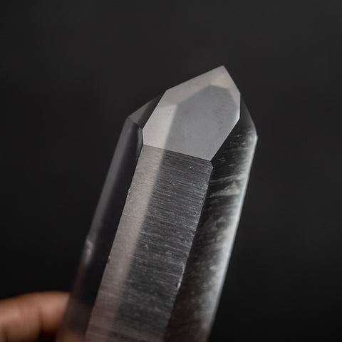 Double Terminated Natural Lemurian Quartz Crystal from Brazil (1.6 lbs)