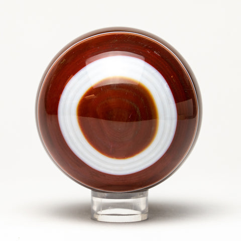 "Polished Small Brown Agate Sphere (2"" Diameter)"