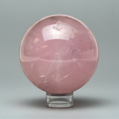 "Polished Rose Quartz Sphere (2.5"" Diameter, 1 lb)"