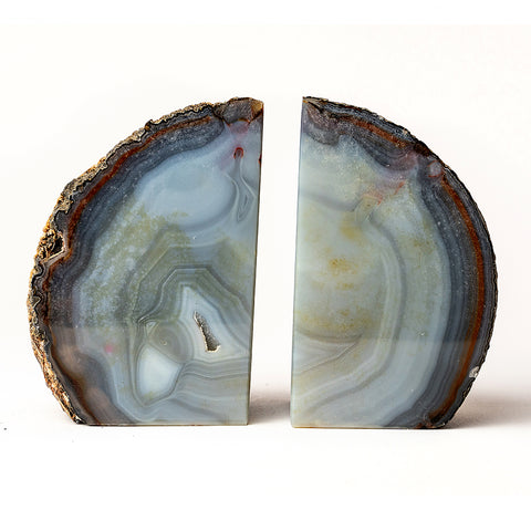 Natural Banded Agate Bookends (2 lbs) from Brazil