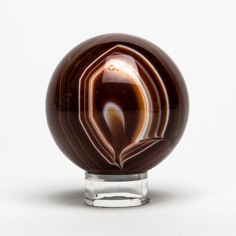 "Small Brown Agate Sphere (2.25"" Diameter, 260 grams)"