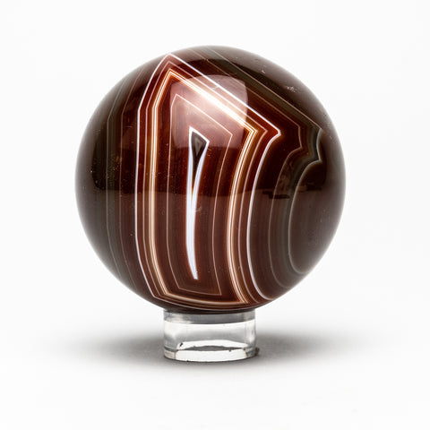 Brown Agate Sphere (3 Diameter, 1.19 lbs)