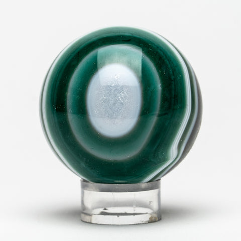 "Small Green Agate Sphere (2"" Diameter, 183.5 Grams)"