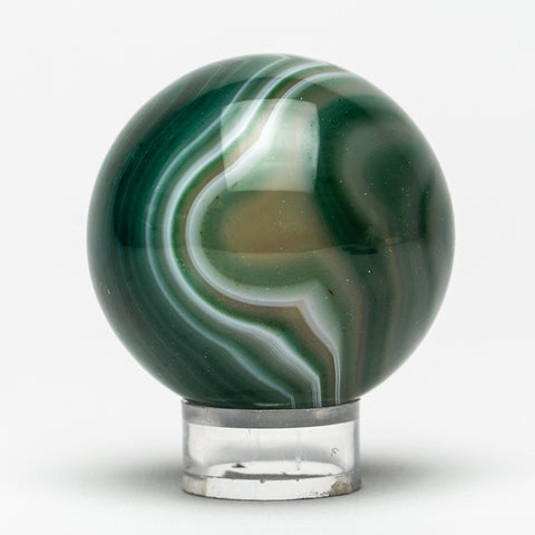 "Small Green Agate Sphere (2"" Diameter, 189.5 Grams)"