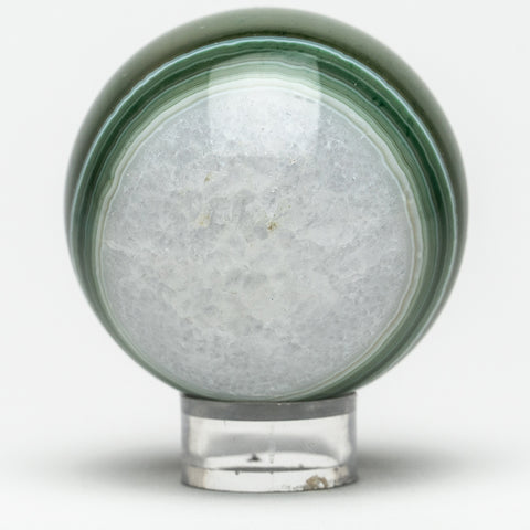 Green and White Agate Sphere (2.25