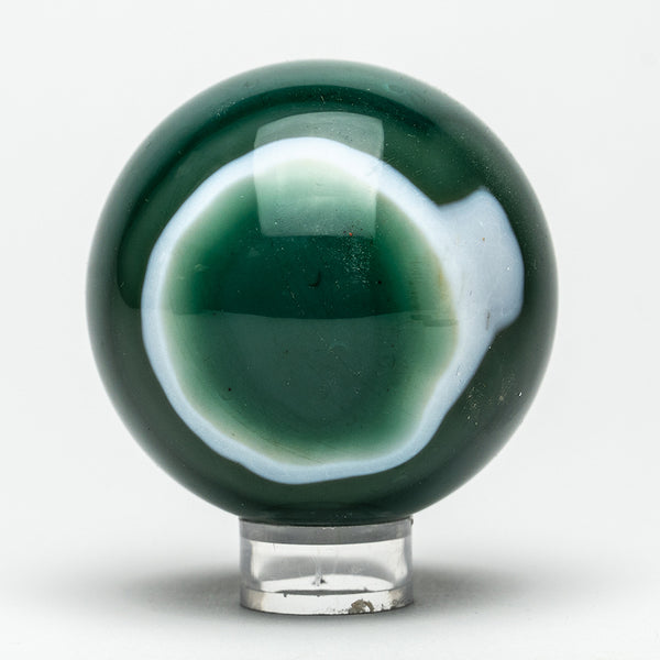 "Green Agate Sphere (2.5"" Diameter, 436.4 Grams)"
