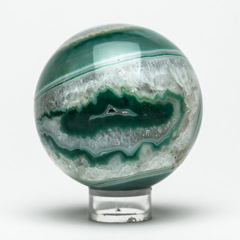 "Green Agate Sphere (2.5"" Diameter, 411 Grams)"
