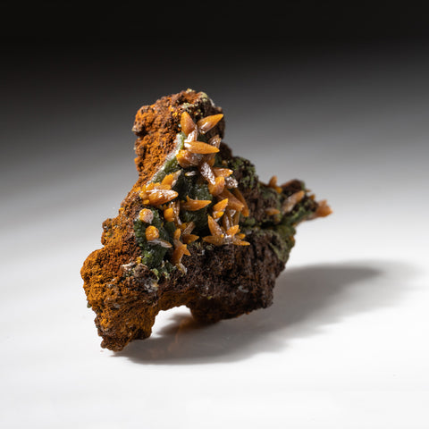 Wulfenite on Limonite from Ojuela Mine, Mapimi, Durango, Mexico
