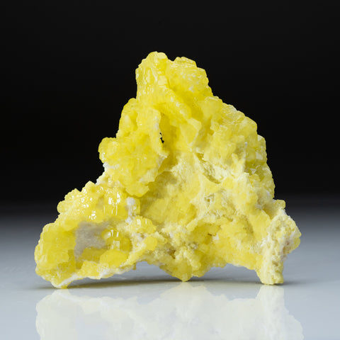 Sulfur on Aragonite from Agrigento Province, Sicily, Italy