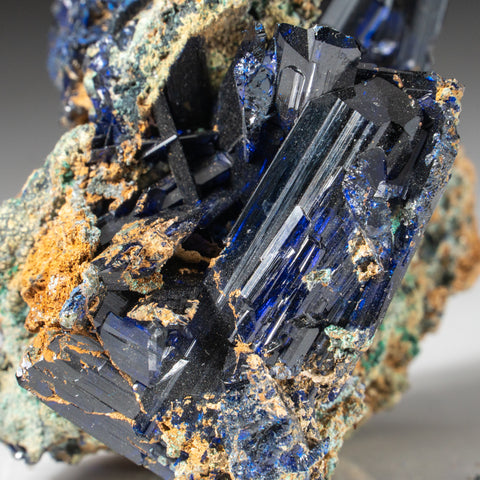 Azurite and Malachite from Tsumeb Mine, Otavi-Bergland District, Oshikoto, Namibia