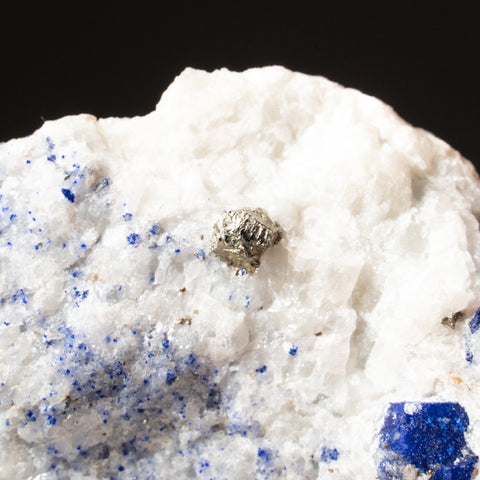 Lazulite on Marble from Graves Mountain, Lincoln County, Georgia